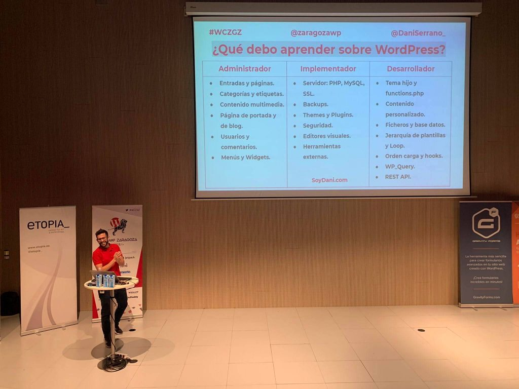 WordCamp Zaragoza 2020 - Dani Serrano - Que debes aprender sobre wordpress